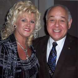 Joanne with Mayor Ted Salci of Niagara Falls