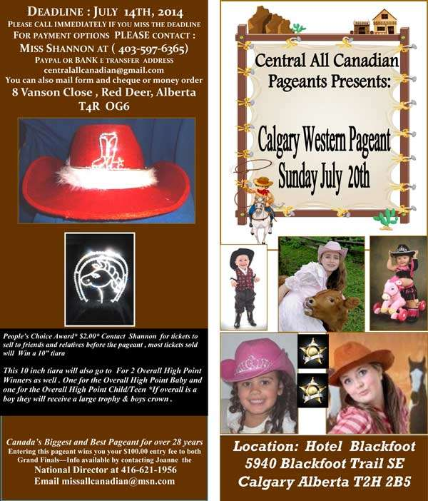 2014 CALGARY WESTERN PAGEANT - MISS ALL CANADIAN PAGEANTS