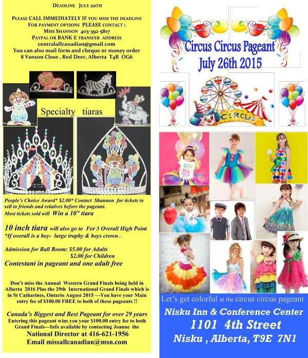 2015 CIRCUS CIRCUS PAGEANT - EDMONTON - MISS ALL CANADIAN PAGEANTS