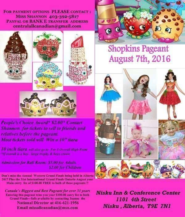2016 SHOPKINS PAGEANT - MISS ALL CANADIAN PAGEANTS