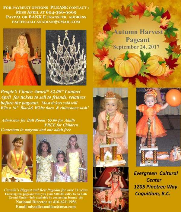 2017 AUTUMN_HARVEST PAGEANT BC - MISS ALL CANADIAN PAGEANTS