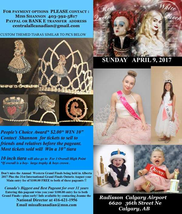 2017 WONDERLAND PAGEANT - ALBERTA - MISS ALL CANADIAN PAGEANTS