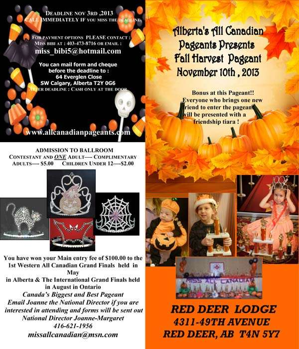 FALL HARVEST PAGEANT - ALBERTA - MISS ALL CANADIAN PAGEANTS