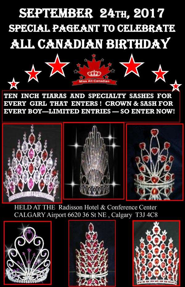 ALL CANADIAN BIRTHDAY PAGEANT - ALBERTA - MISS ALL CANADIAN PAGEANTS
