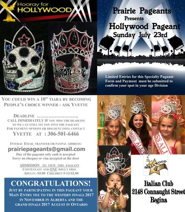 HOLLYWOOD PAGEANT REGINA - MISS ALL CANADIAN PAGEANTS