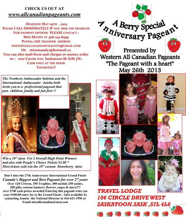 MISS ALL CANADIAN PAGEANTS - A BERRY SPECIAL ANNIVERSARY PAGEANT