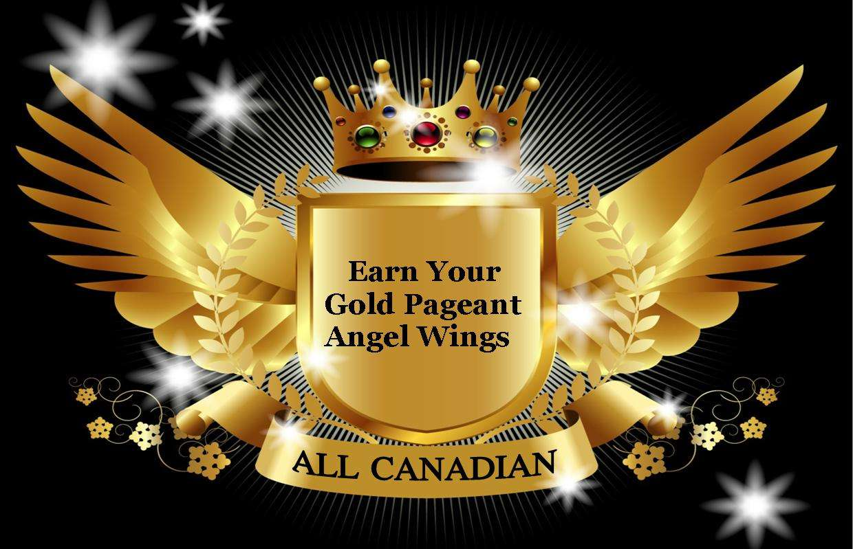 Miss All Canadian - Gold Pageant Angel Wings